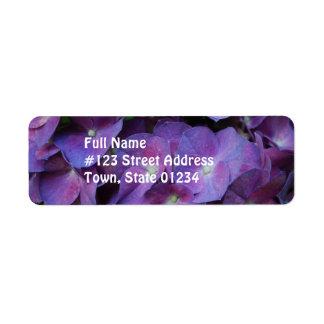 Purple Hydrangea Return Address Label