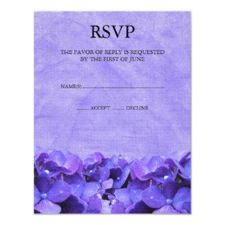 Purple Hydrangea RSVP Response Cards