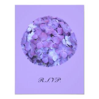 Purple Hydrangea RSVP Wedding Invite