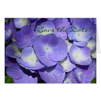 Purple Hydrangea Save the Date Card