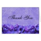 Purple Hydrangea Thank You Note Card