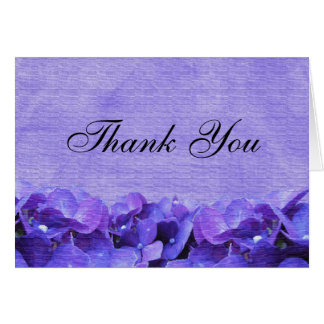 Purple Hydrangea Thank You Note Card