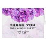 Purple hydrangea wedding thank you note hydrangea4 note card