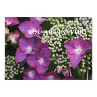 Purple Hydrangea YOU ARE INVITED Invitation 13 Cm X 18 Cm Invitation Card