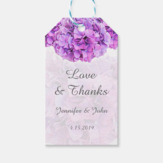 Purple Hydrangeas Wedding Favor Gift Tag