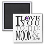 Purple I Love You to the Moon and Back
