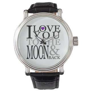 Purple I Love You to the Moon and Back Wristwatches