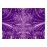 Purple Ice Crystals Greeting Card