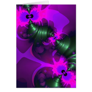 Purple Imp – Violet and Magenta Ribbons Greeting Card