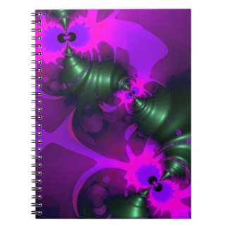 Purple Imp – Violet and Magenta Ribbons Note Book