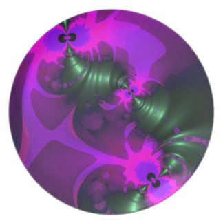 Purple Imp – Violet and Magenta Ribbons Party Plate