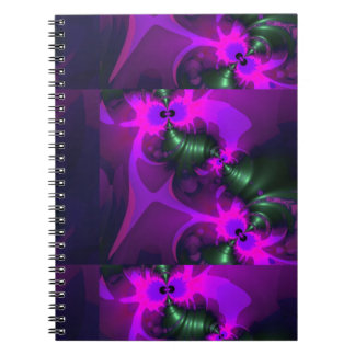 Purple Imp – Violet and Magenta Ribbons Spiral Notebook