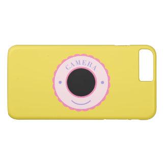 Purple individuality camera & smile iPhone 7 plus case