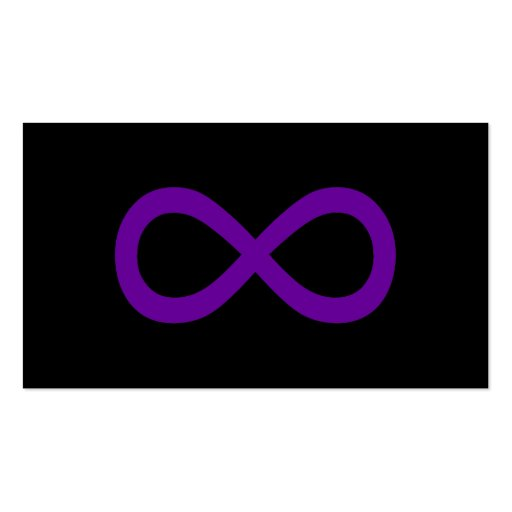 Purple Infinity Symbol Business Cards