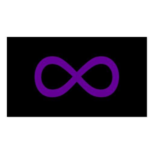 Purple Infinity Symbol Business Cards