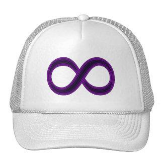 Purple Infinity Symbol Cap Trucker Hats
