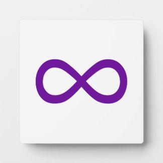 Purple Infinity Symbol Plaque