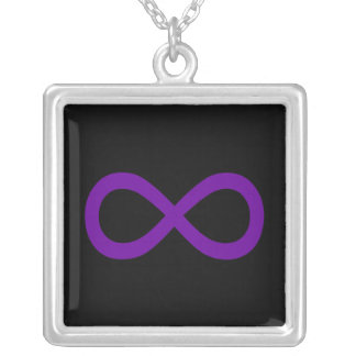 Purple Infinity Symbol Silver Plated Necklace