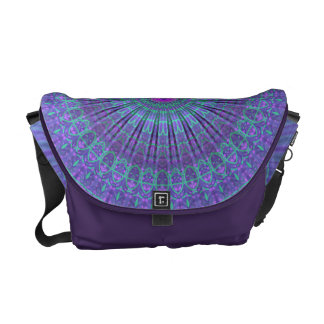 Purple Inspire mandala kaleidoscope Commuter Bag