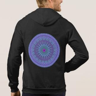 Purple Inspire mandala pattern hooded top Hoodie