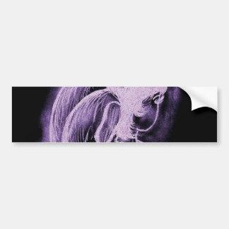 Purple Inverted Sideways Angel Bumper Sticker
