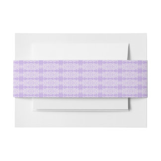 purple invitation belly band