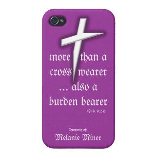 Purple iPhone Case w/ Cross iPhone 4/4S Cases