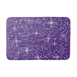 Purple iridescent glitter bath mat