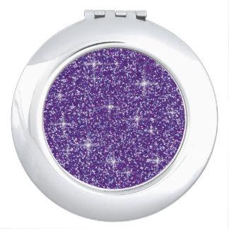 Purple iridescent glitter vanity mirror