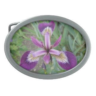 Purple Iris Belt Buckle