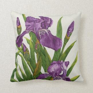Purple Iris Botanical - Pillow