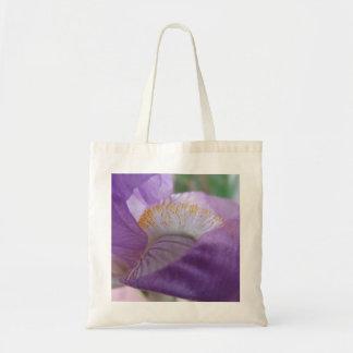 Purple Iris Closeup Tote Bag