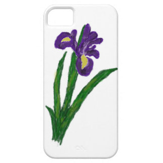 Purple Iris Colored Pencil Phone Case Barely There iPhone 5 Case