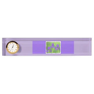 Purple Iris Desk Name Plates