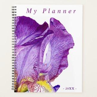 Purple Iris | Elegant Floral Art Planner