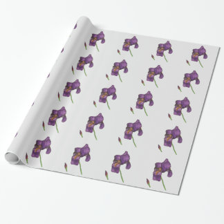 Purple Iris Elegant Wrapping Paper