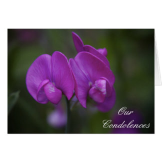 Purple Iris Floral Condolences Card