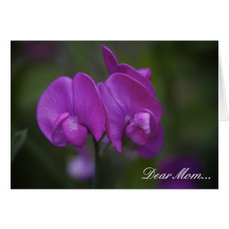 Purple Iris Floral Photo Mother's Day Greeting Card
