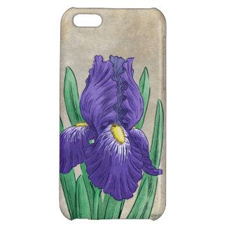 Purple Iris Flower Art iPhone 5C Covers