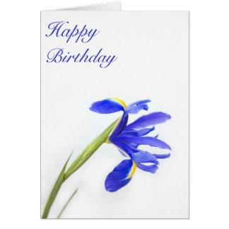 Purple Iris Flower Birthday Card