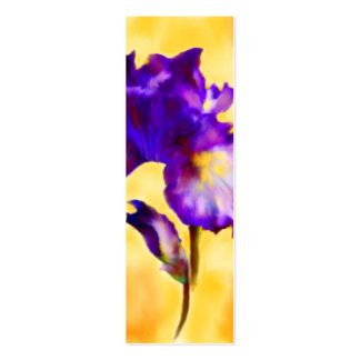 Purple Iris (flower) Bookmarks Pack Of Skinny Business Cards