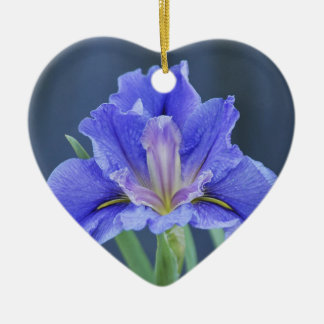 Purple Iris flower Christmas Ornament
