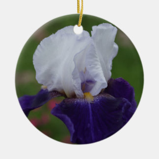 Purple Iris Flower Christmas Ornament