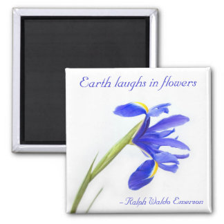 Purple Iris Flower - Earth laughs in flowers Magnet