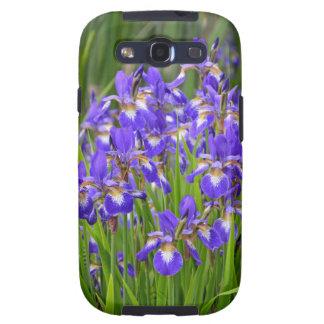Purple iris flower garden samsung galaxy s3 case