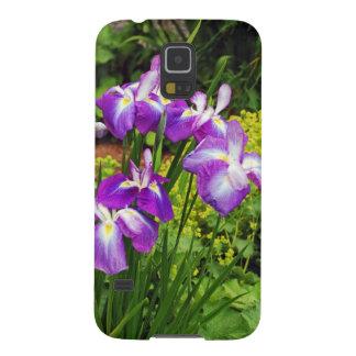 Purple iris flower garden samsung galaxy nexus cover