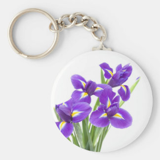 purple iris flower key ring