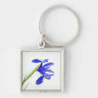 Purple Iris Flower Keychains