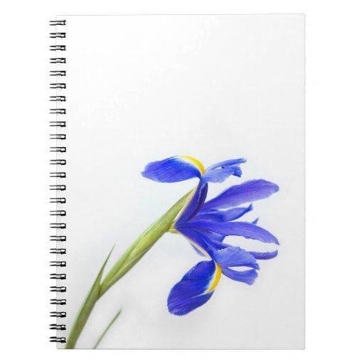 Purple Iris Flower Note Book