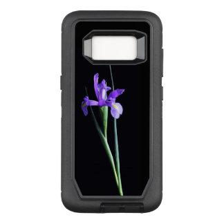 Purple Iris Flower OtterBox Defender Samsung Galaxy S8 Case